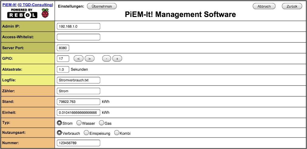 PiEM-Settings
